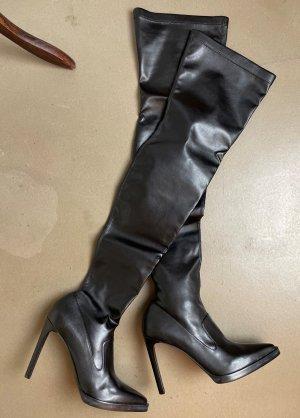 * STELLA McCARTNEY * NEU ! spitze Overknees Stiefel Veganes LEDER schwarz Heels