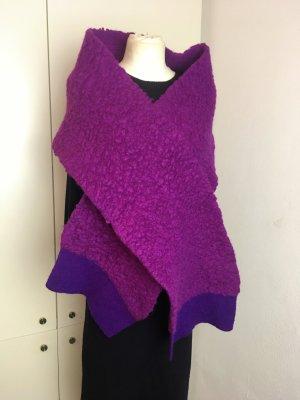 * STELLA McCARTNEY *  Oversize Schal WOLLE ALPACA LILA violett