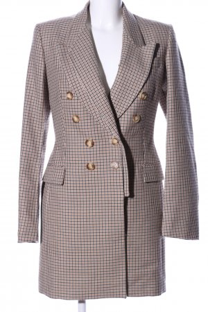 Stella McCartney Pea Coat brown-cream check pattern business style