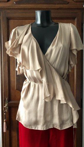 Stella McCartney Kopertowa bluzka nude-beżowy