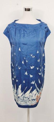 Stella McCartney/ Seidenkleid/ Größe 38/ Blau mit Maritimen Druck/ Zustand: Sehr gut
