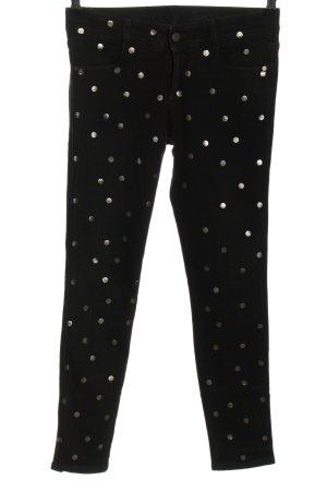 Stella McCartney Dopasowane jeansy czarny-srebrny Tkanina z mieszanych włókien
