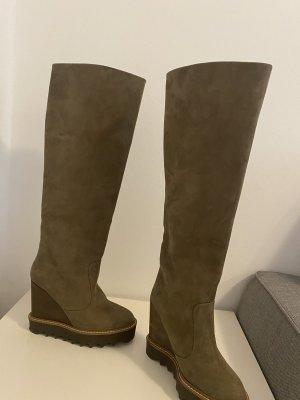 Stella McCartney Heel Boots green grey