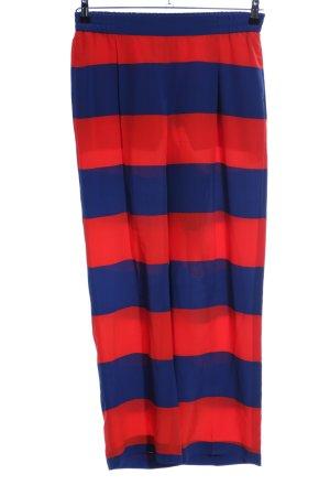 Stella McCartney Stoffhose rot-blau Streifenmuster Casual-Look