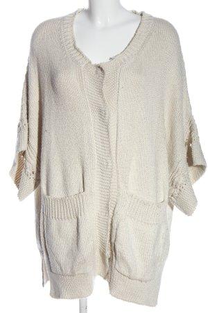 Stella McCartney Giacca in maglia bianco sporco punto treccia stile casual