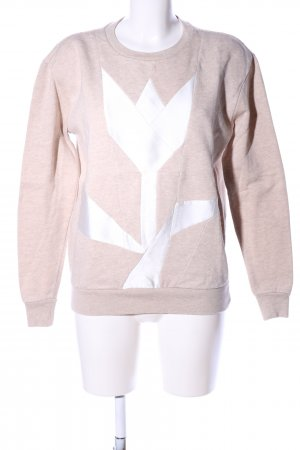 Stella McCartney Sweatshirt wollweiß-weiß meliert Casual-Look