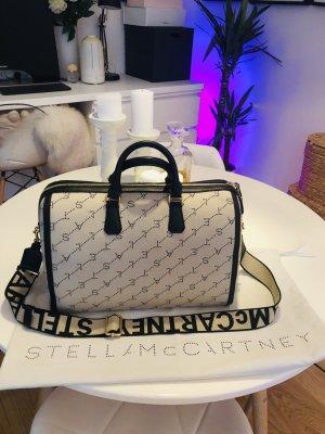 Stella McCartney Bowlingtas zwart-wolwit Leer
