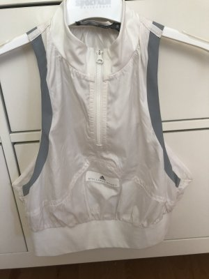 Adidas by Stella McCartney Top recortado gris claro-blanco