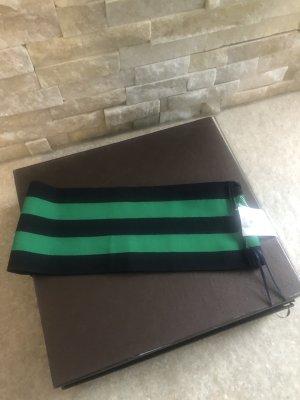 Stella McCartney Bandeau top groen-zwart Gemengd weefsel