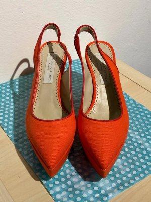 Stella McCartney Platform Sandals bright red-red