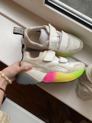 Stella McCartney weiße Sneaker mit Rainbow Sohle Gr.39
