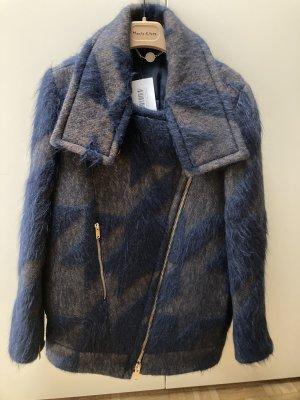 Stella McCartney Wełniany sweter ciemnoniebieski Wełna