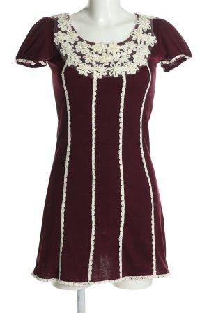 Stella Morgan Minikleid rot-weiß Streifenmuster Casual-Look