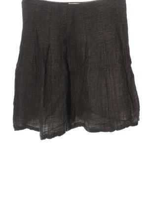 Stella Nova Falda de lana marrón moteado look casual