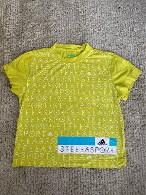 Adidas by Stella McCartney T-shirt neongeel-wit