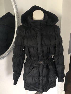 Mango Quilted Coat black