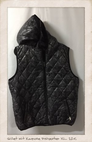Quilted Gilet black-dark grey