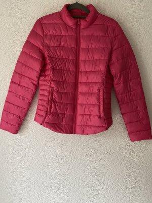 Pikowana kurtka różowy-różowy neonowy