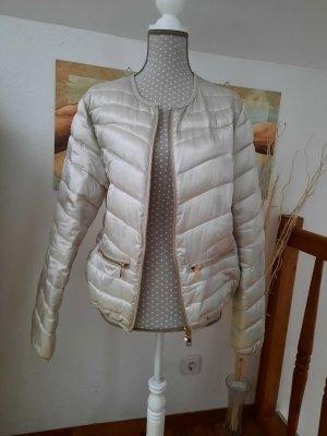 Amisu Pikowana kurtka srebrny