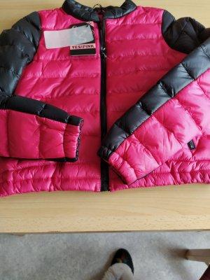 Quilted Jacket black-magenta