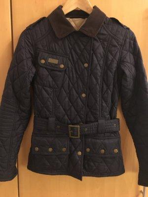 Barbour Quilted Jacket dark blue-dark brown cotton