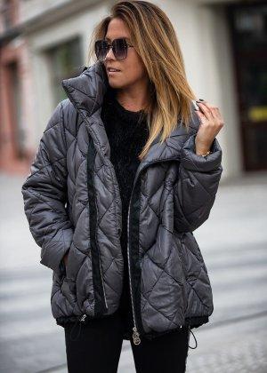 Bastet Pikowana kurtka czarny-ciemnoszary
