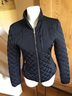 Zara Women Quilted Jacket dark blue