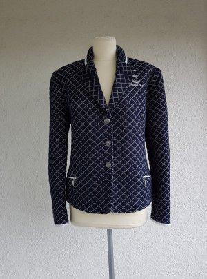Serena Malin Blazer en jean blanc-bleu foncé