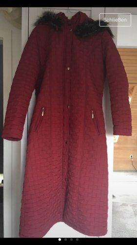 Quilted Coat bordeaux synthetic fibre