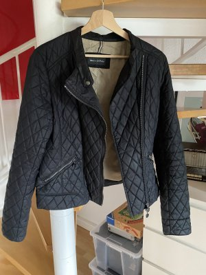 Marco Polo Quilted Jacket anthracite-cream