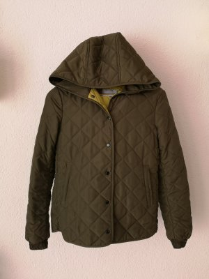 Trf by Zara Quilted Jacket lime yellow-olive green