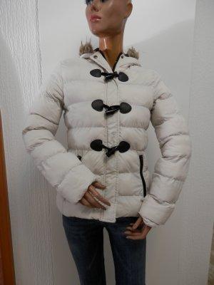 Brave Soul Pikowana kurtka kremowy