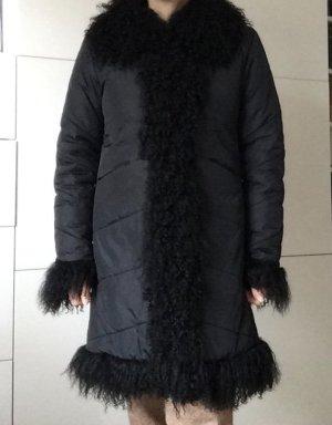 Pikowana kurtka czarny Poliester