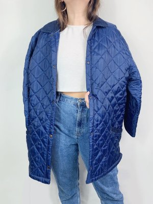 Vintage Quilted Jacket blue