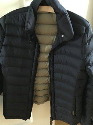 Woolrich Quilted Jacket dark blue nylon