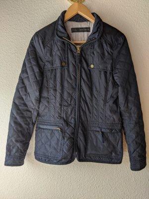 Zara Basic Quilted Jacket dark blue-blue