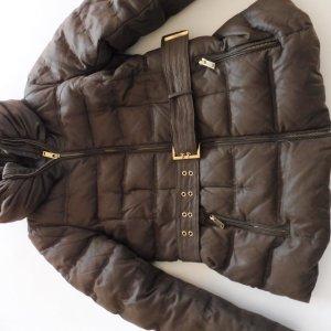 Zara Basic Quilted Jacket dark brown mixture fibre