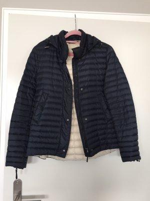 Zara Quilted Jacket dark blue-cream