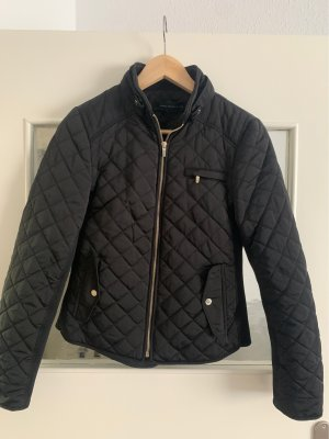 Zara Woman Quilted Jacket black-gold-colored
