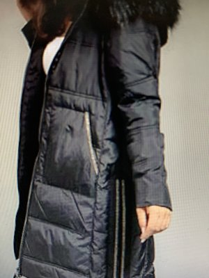 Jette Gewatteerde jas zwart