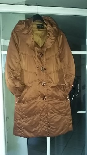 Gerry Weber Quilted Coat cognac-coloured polyester