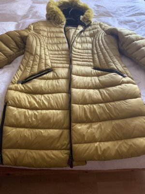 Canda Quilted Coat lime yellow polyester