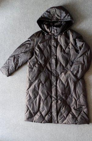 Barisal Manteau d'hiver brun foncé-brun noir tissu mixte
