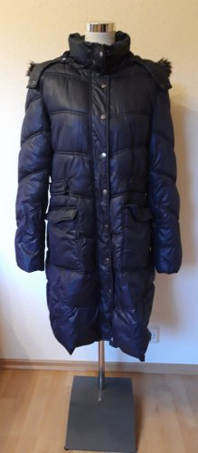 Manguun Quilted Coat dark blue