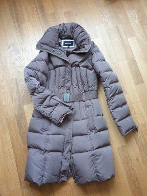 More & More Gewatteerde jas grijs-bruin Polyester