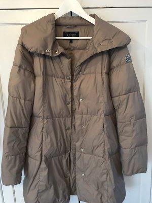 Armani Jeans Pikowany płaszcz szaro-brązowy