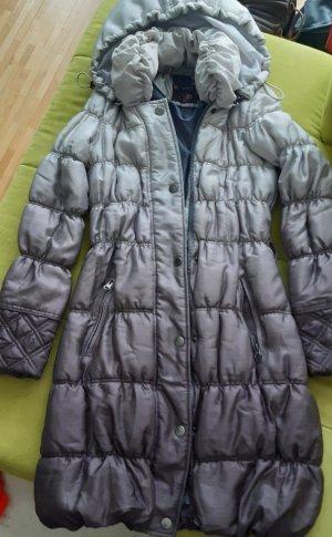 Orsay Pikowany płaszcz jasnoszary