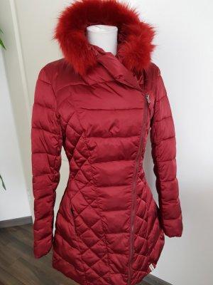 Rinascimento Quilted Coat dark red