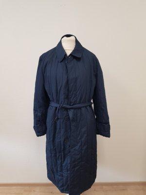 Pikowany płaszcz ciemnoniebieski