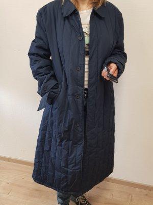 Abrigo acolchado azul oscuro